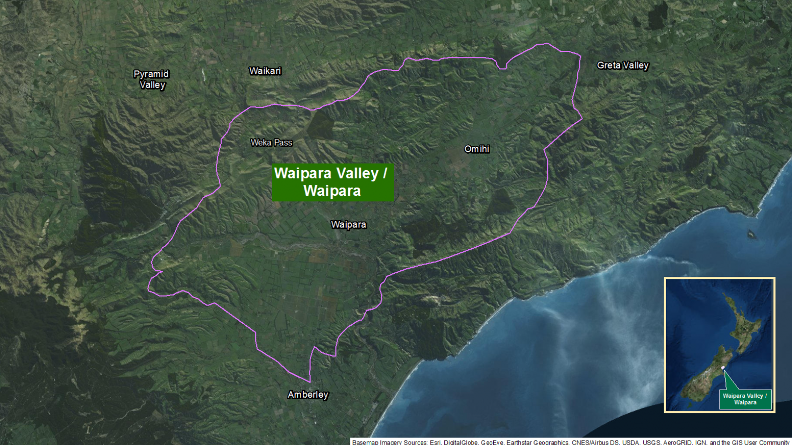 Map of area: Waipara Valley GI static map v1.0