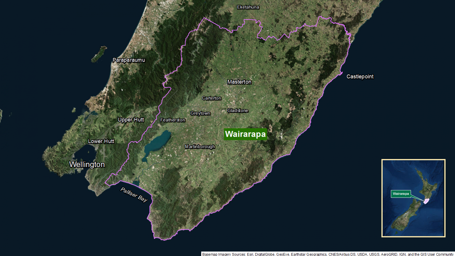 Map of area: Wairarapa GI static map v1.0