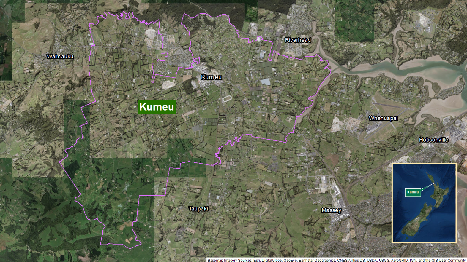 Map of area: Kumeu GI static map v1.0