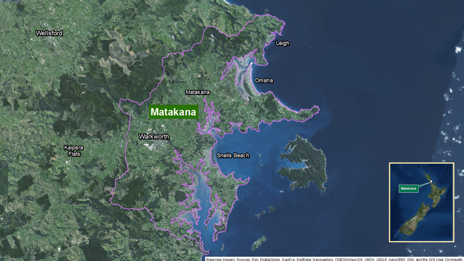 Map of area: Matakana GI static map v1.0