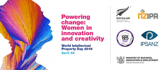 Banner: Powering change: Women in innovation and creativity.