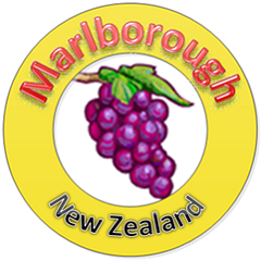 The logo contains the both words 'Marlborough' and 'New Zealand'.